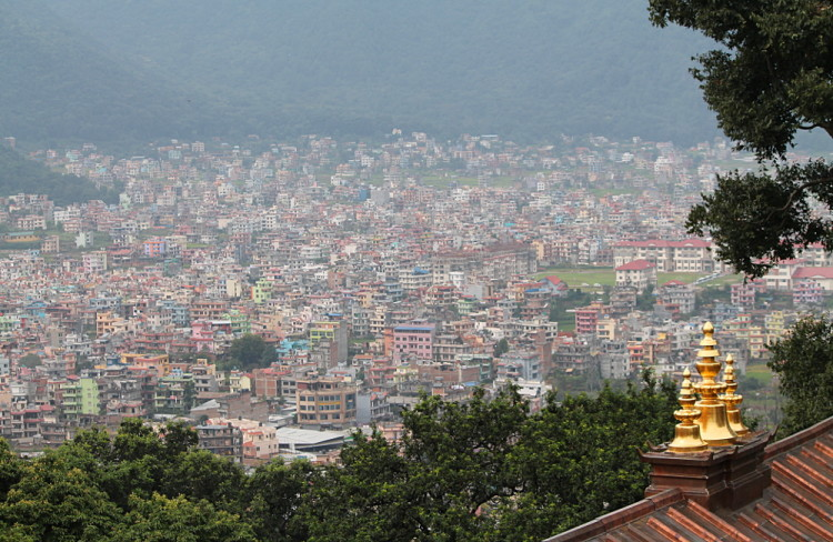 The view from the monkey temple in Kathmandu, Nepal