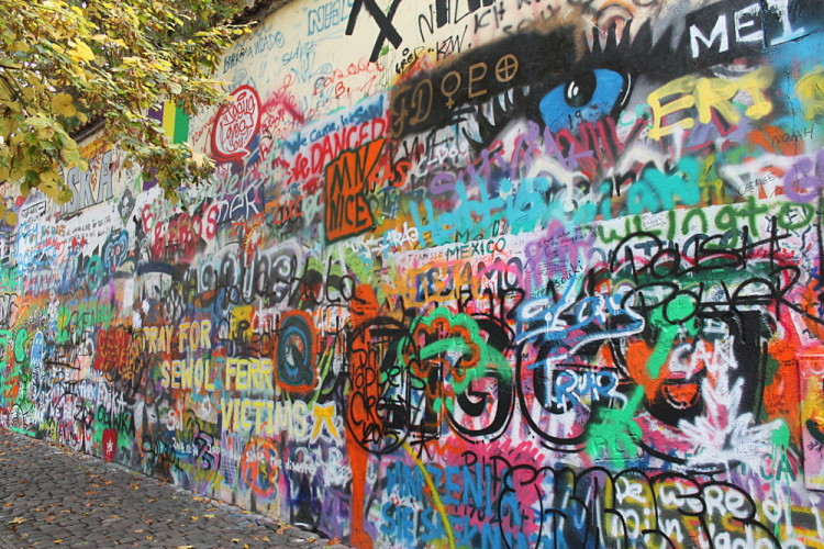 The John Lennon Wall - a great stop while exploring Prague