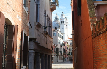 Romance in Venice - a small side street