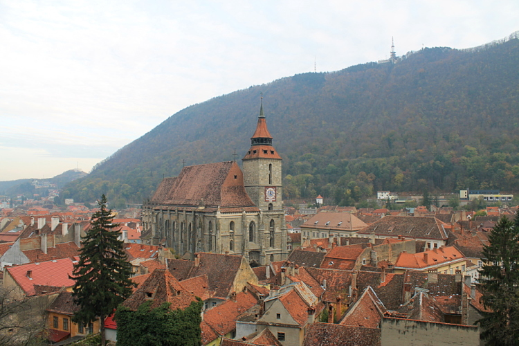 The Black Church in Brasov, Transylvania - the base for our week in Transylvania