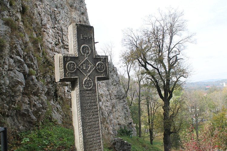 A cross at Bran Castle, Transylvania, Romania