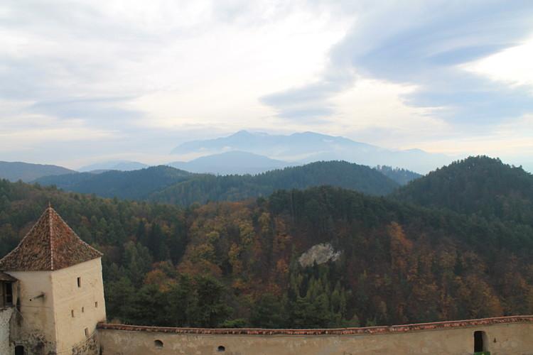 Rasnov Citadel, near Bran Castle, Transylvania, Romania