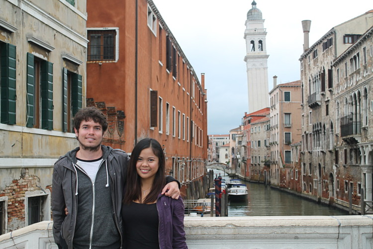 Walking the old streets of Venice - romance in Venice can be cheap!