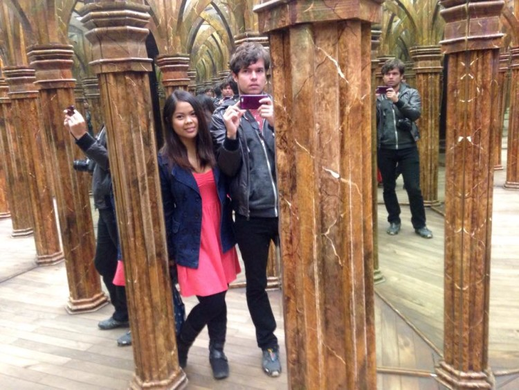 Exploring Prague - the mirror maze