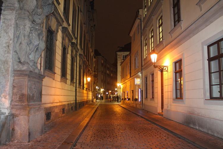 Exploring Prague at night