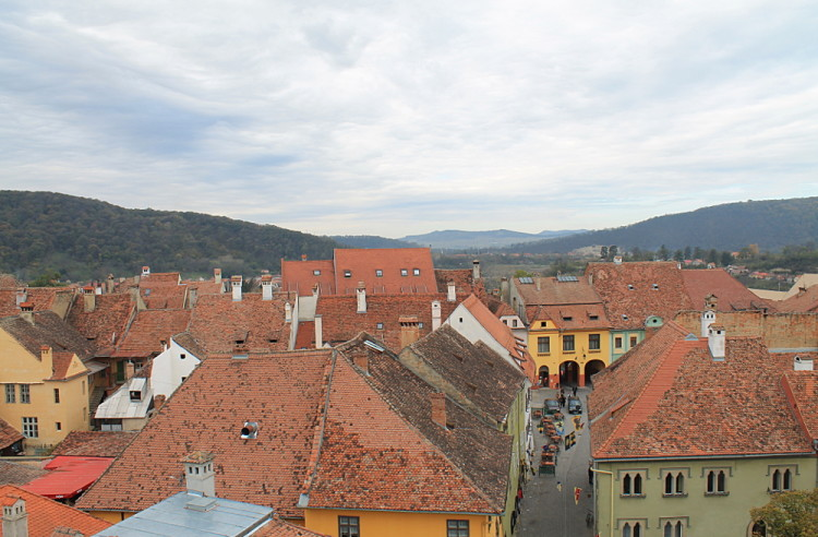 Sighisoara from above during a week in Transylvania