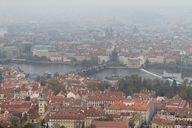 Exploring Prague with tips from a local - the view from the mini Eiffel Tower
