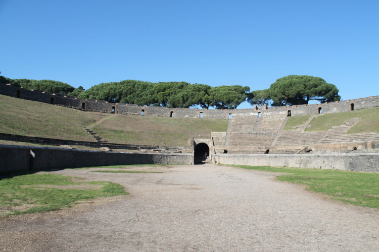 The amphitheatre in Pompeii, Italy - part of the Pompeii and Herculaneum day trip
