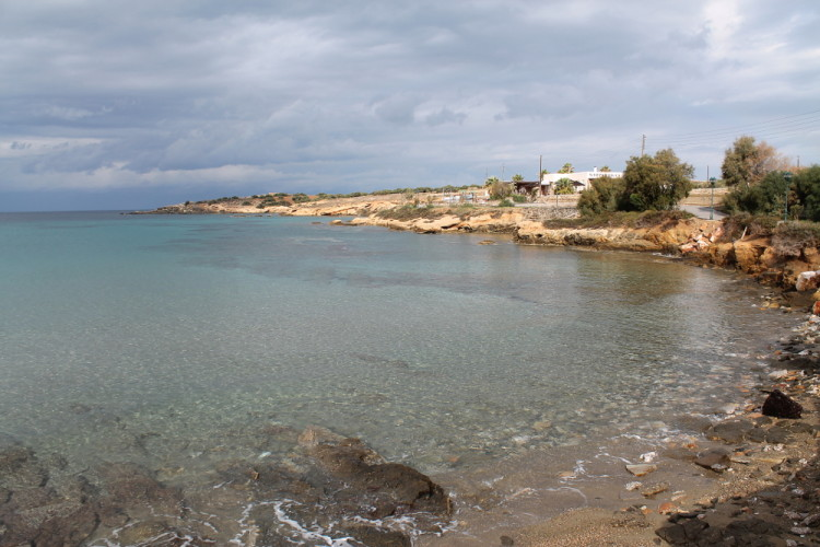 A beach on Antiparos - a small island to go to when island hopping the Greek islands in winter