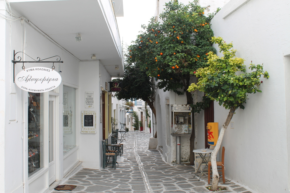 A street in Parikia old town, Paros, Greece