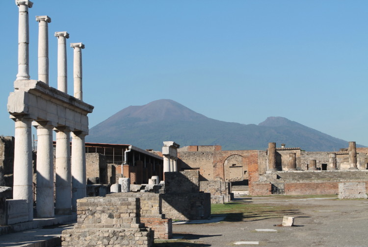 Mt Vesuvius as seen on a day trip to Pompeii and Herculanuem