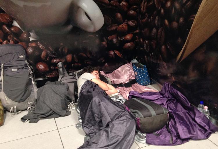 The art of sleeping at airports