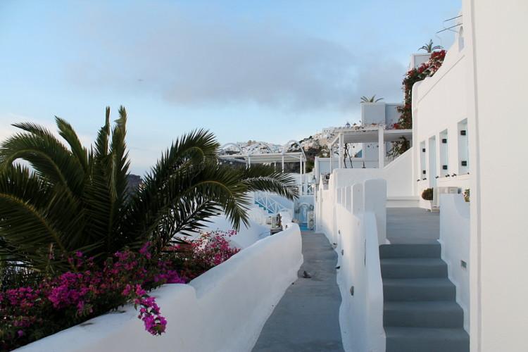 Fira, walking from Fira to Oia on Santorini, Greece