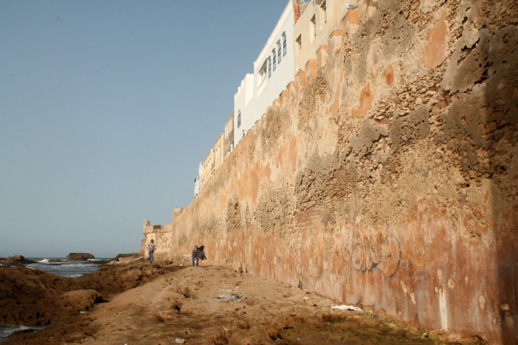 City walls of Essaouira, during our day trip to Essaouira, Morocco