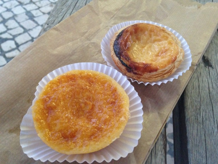 Pizza in Naples (and other food in Europe): Egg tarts in Sintra, Portugal