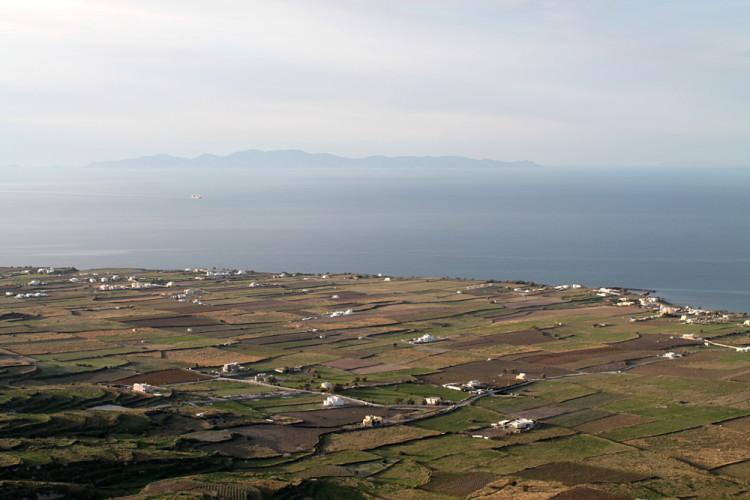 Farms near Oia, while walking from Fira to Oia, Santorini, Greece