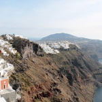 Walking from Fira to Oia, Santorini