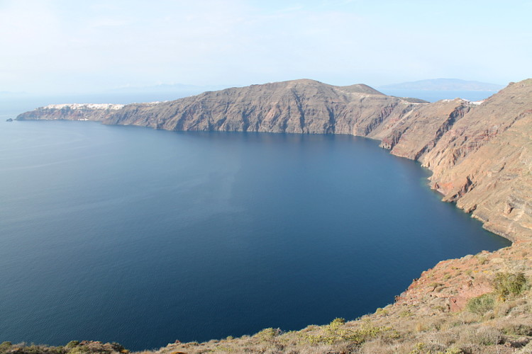 Santorini - a great place to walk in the Greek islands in winter