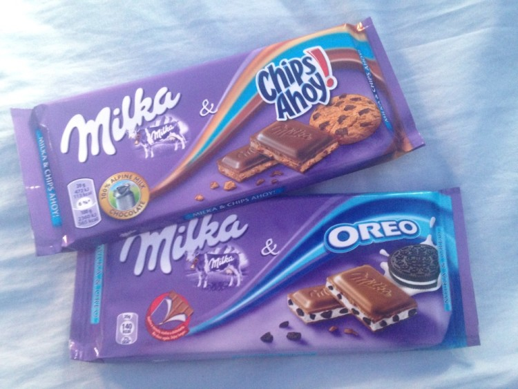Pizza in Naples (and other food in Europe): Milka Chocolate in Europe