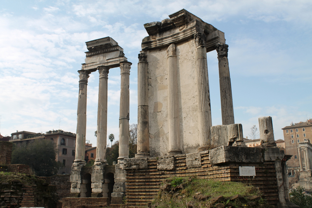 Two days in Rome -- Roman Forum ruins