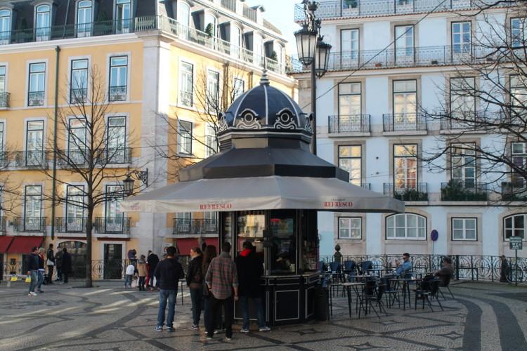 A square in Lisbon, Portugal