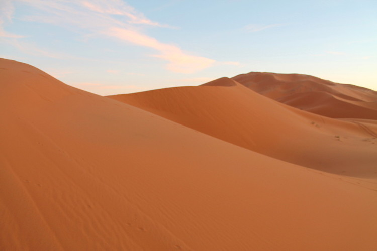 Sand dunes at Erg Chebbi, Morocco