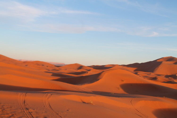 The Sahara Desert at Erg Chebbi, Morocco