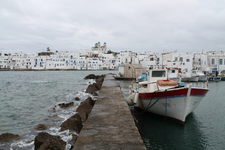 The port in Naousa, one of the best places to go if visiting the Greek islands in winter