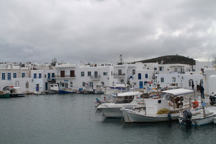 Naousa waterfront - a cool place to go if visiting the Greek islands in winter