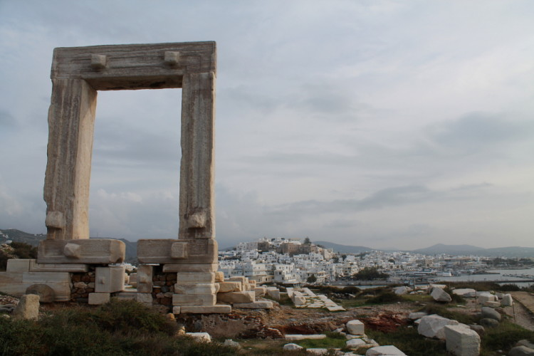 The Portara - the best ancient site we saw on our visit to the Greek islands in winter