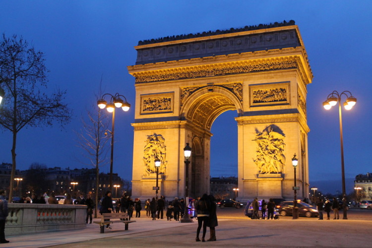 Two days in Paris, extreme sightseeing: Arc De Triomphe