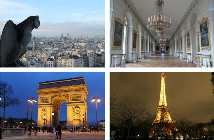 Extreme sightseeing in Paris, France