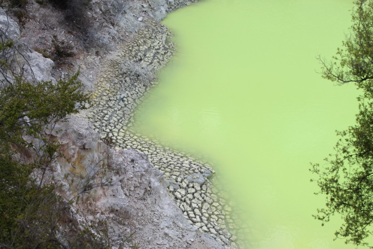 The Devil's Bath at Wai O Tapu, Rotorua, New Zealand