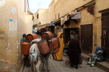 Navigating the mazy medina in Fez, Morocco