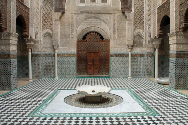 El Attarin medersa, found in the medina in Fez, Morocco