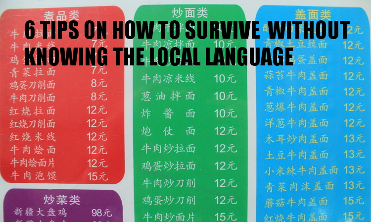 6 travel tips on how to survive without knowing the local language
