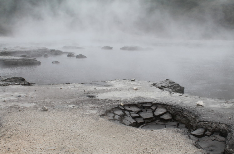 Mud pools at Hell's Gate, Rotorua, New Zealand