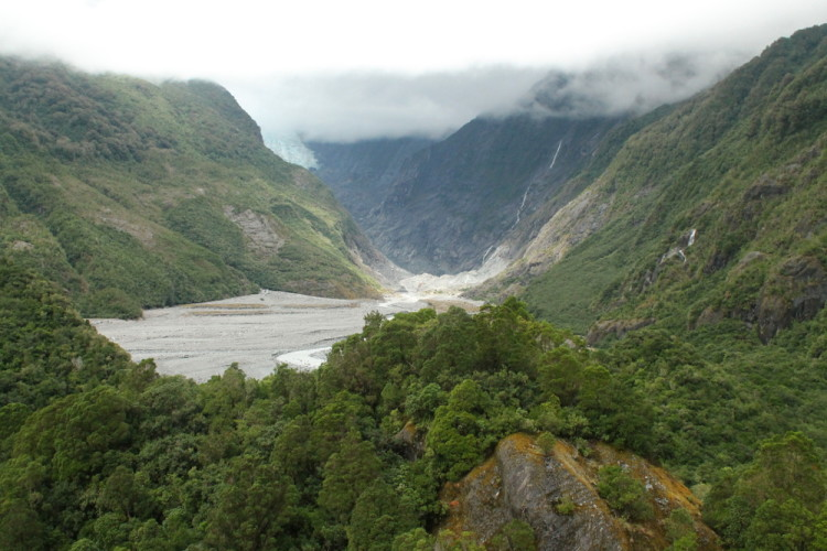 View from Sentinel Rock, Franz Josef - You can also see glow worms in Franz Josef!