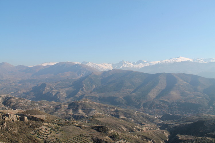 Sierra Nevada Mountains while walking from Beas de Granada to Granada, Spain