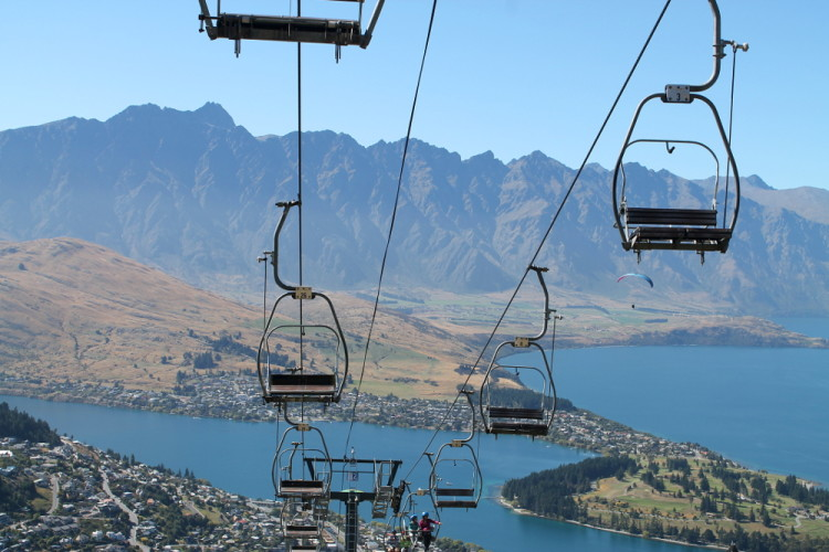Skyline Gondola in Queenstown, New Zealand