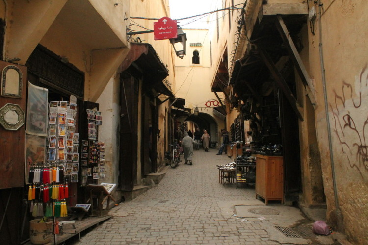 walking the streets of the medina in Fez, Morocco, North Africa