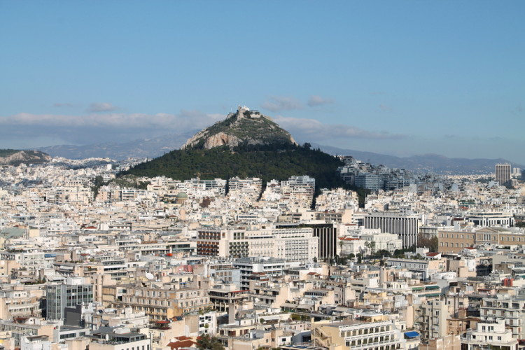 The view of Athens from the Acropolis