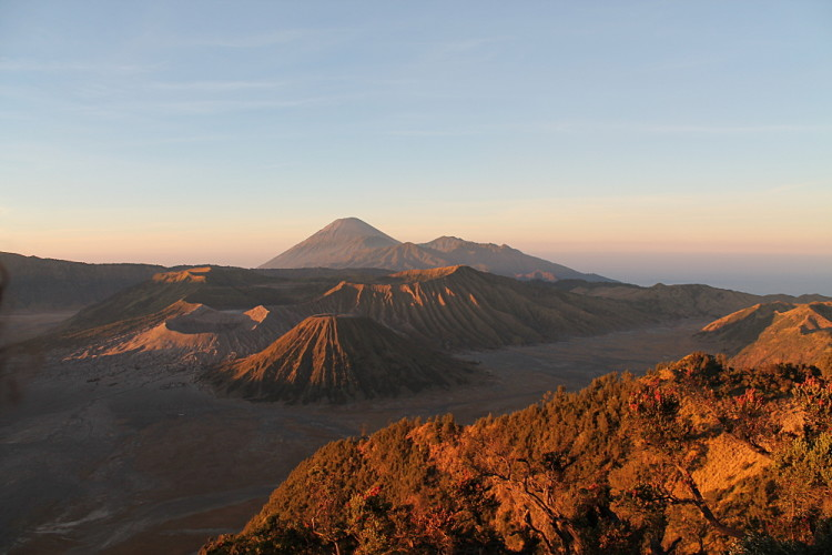 Mount Bromo at sunrise - a must do tour while backpacking in Indonesia