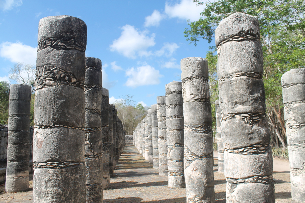 Columns at Chichen Itza, Mexico