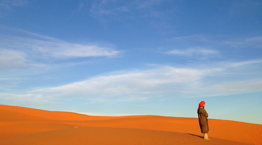 A year on the road: Erg Chebbi sand dunes Morocco