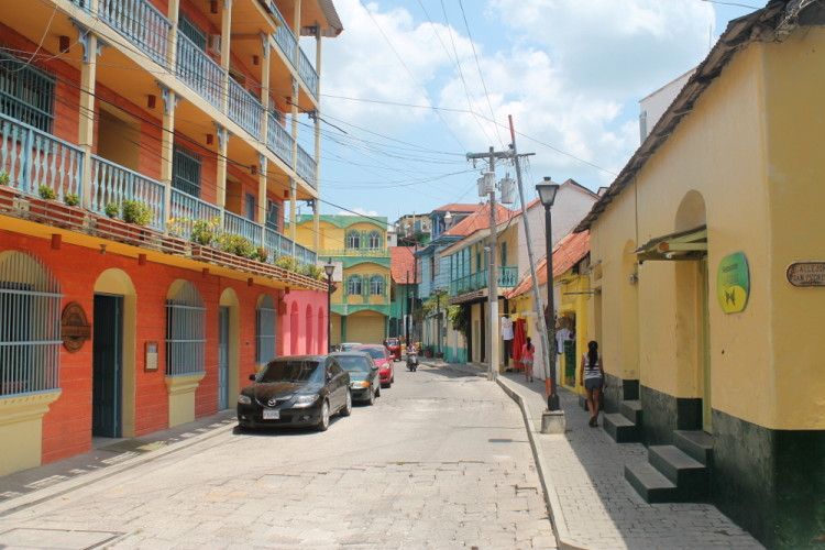 Colourful buildings in Flores, Guatemala