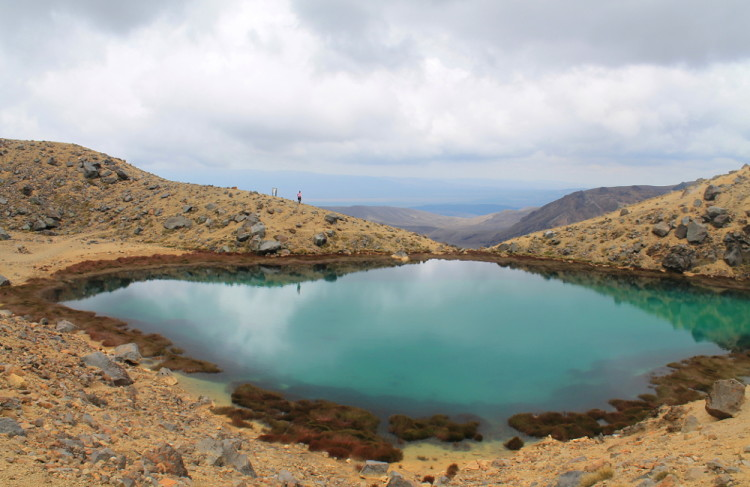 A small volcanic lake on the Tongariro Crossing track, New Zealand