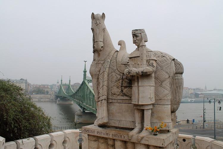 A statue on Buda Hill, Budapest, Hungary