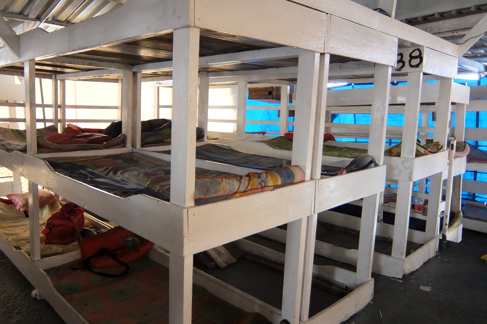 El Rama to Big Corn Island - the beds on the Captain D