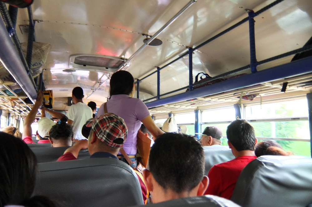 chicken buses get really crowded - don't give up your seat!